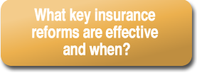 What key insurance reforms are effective and when